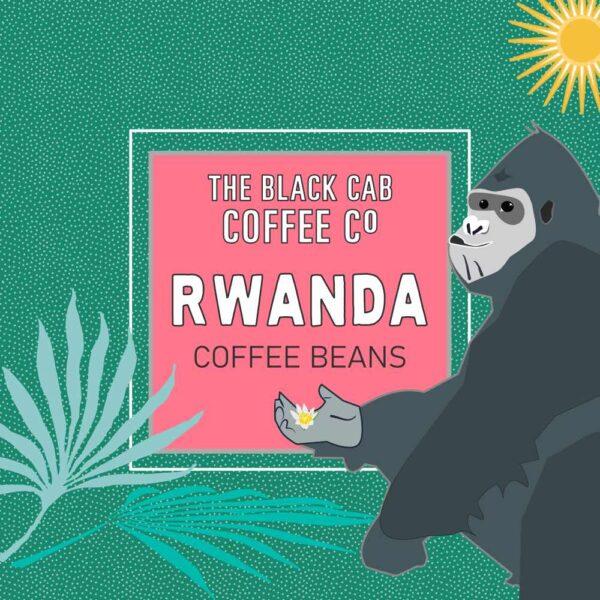 Rwanda Coffee Bean Label